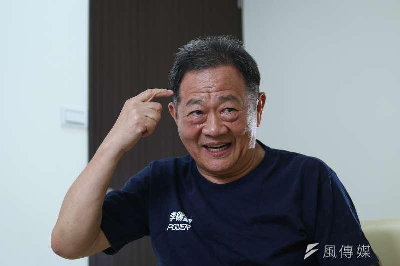 無黨籍台北市長參選人李錫錕接受風傳媒專訪。(陳品佑攝)
