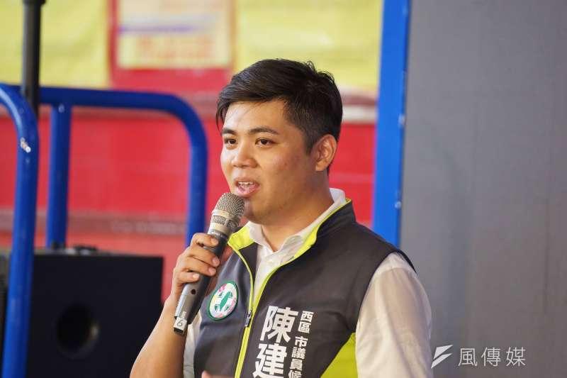 20180921-民進黨新竹市議員候選人陳建名。(盧逸峰攝)