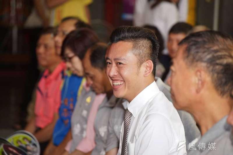 現任新竹市長、民進黨新竹市長候選人林智堅的競選辦公室12日公布最新民調顯示,林智堅的支持度40.6%,持續領先對手。(資料照,盧逸峰攝)