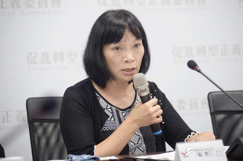 促進轉型正義委員會「912專案調查報告」記者會,發言人楊翠。(甘岱民攝)