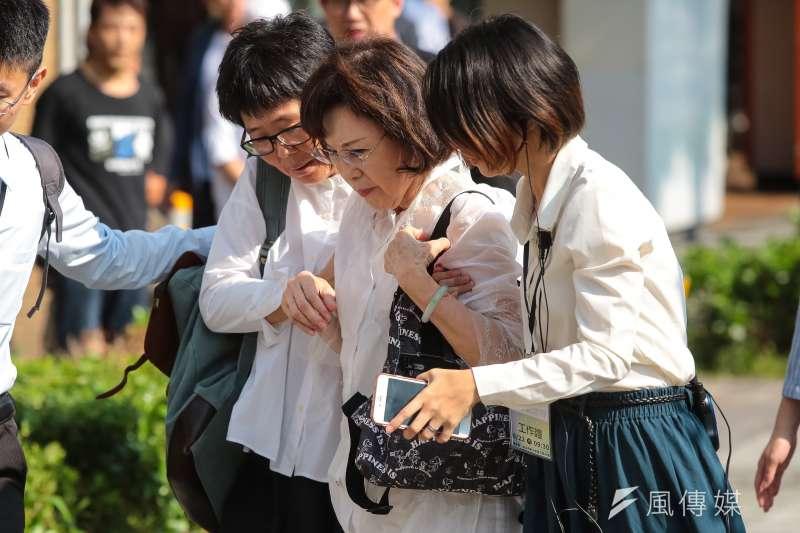 前國民黨發言人楊偉中母親22日出席「楊偉中追思紀念會」。(顏麟宇攝)