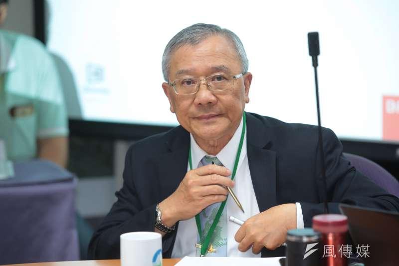 中油董事長戴謙日前出席「中油觀塘案環評大會」。(顏麟宇攝)