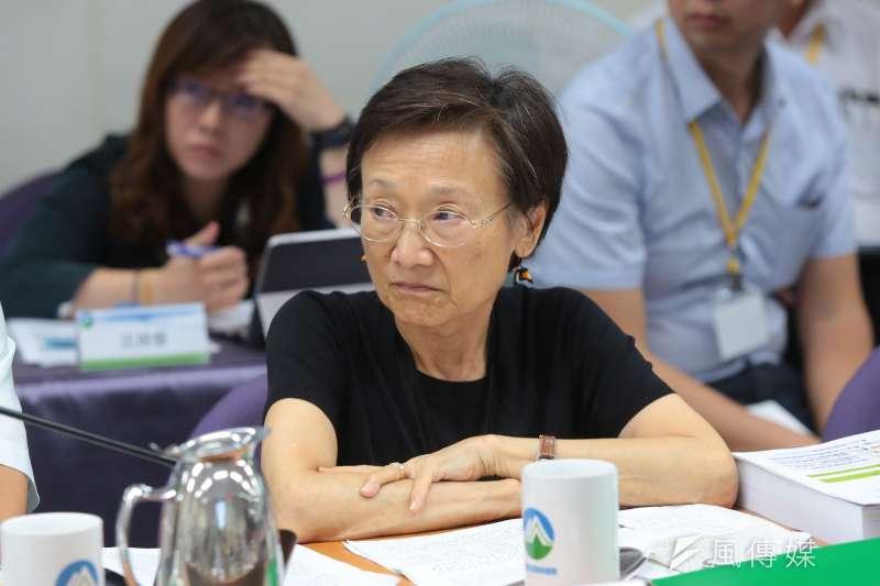 20180926-環評委員劉小如26日出席「中油觀塘案環評大會」。(顏麟宇攝)