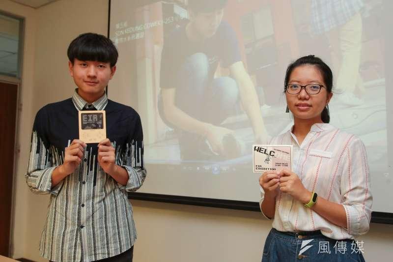 20180926-台科大行動工程師專訪,第五組:柴貝融(右)李宗唐(左)。(顏麟宇攝)