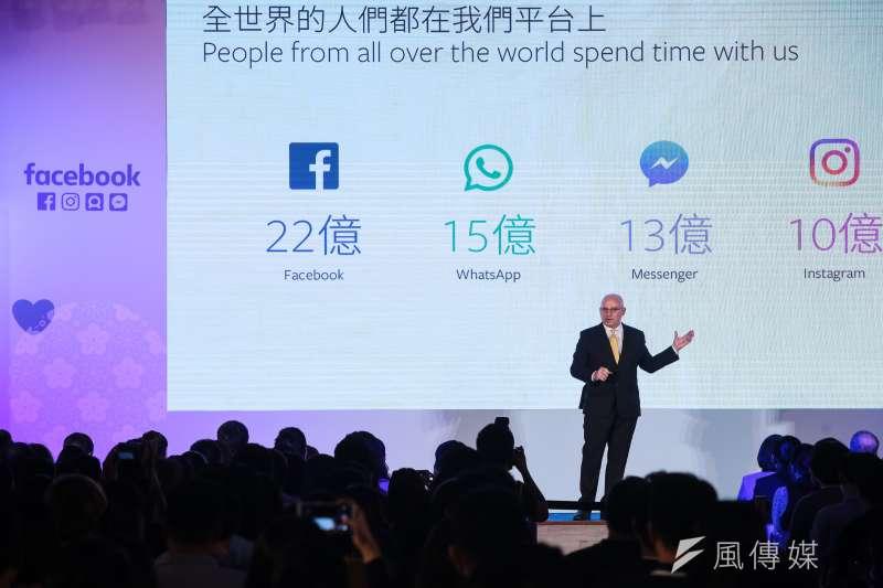 Facebook全球副總裁暨亞太區總裁唐立洋(Dan Neary)27日出席 Facebook Made by Taiwan 活動,並在現場宣布在台拼經濟、科技和人才的三大計畫。(顏麟宇攝)