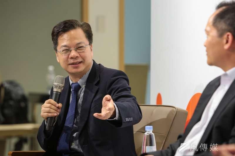 行政院政務委員龔明鑫今(9)日針對「美中貿易戰與經濟議題」,向媒體進行說明。(資料照片,顏麟宇攝)