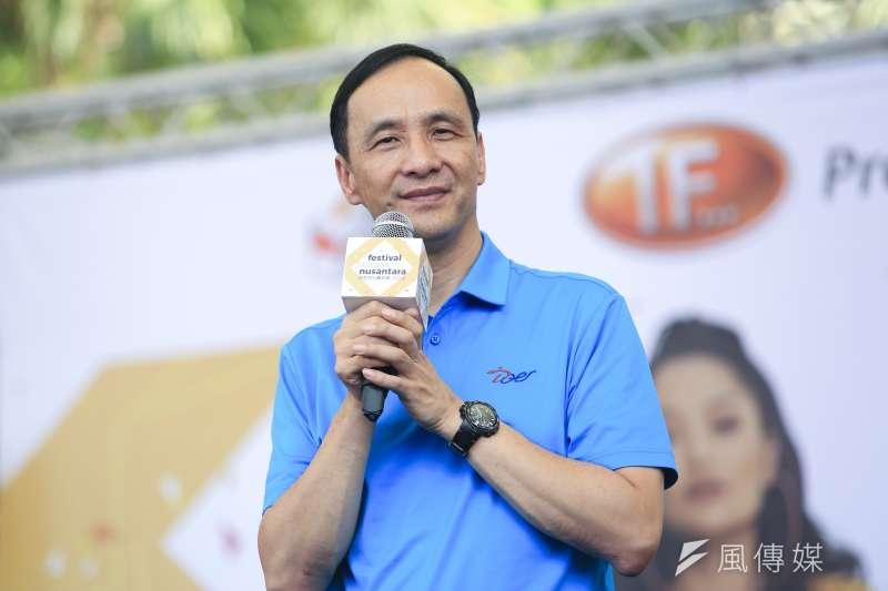 20180930-新北市長朱立倫出席「2018年印尼文化嘉年華」。(簡必丞攝)