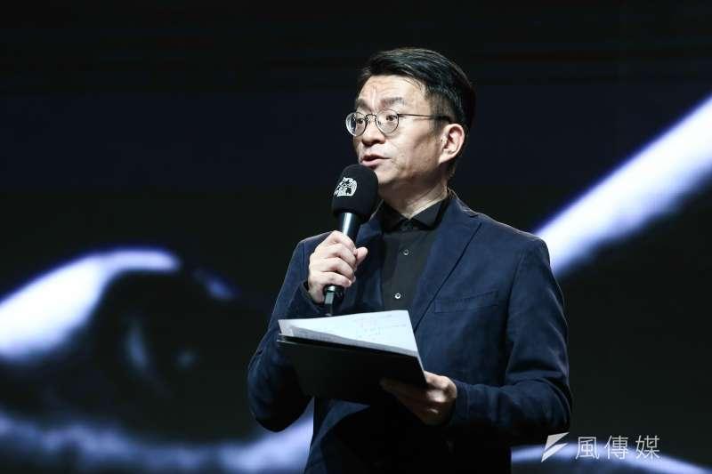20181001-第55屆金馬獎入圍公布記者會,圖為台北金馬影展執行委員會執行長聞天祥。(陳品佑攝)