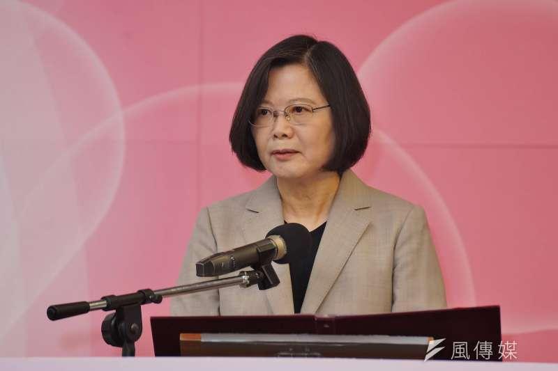 總統蔡英文在國慶演說將再度提「中華民國(台灣)」,意在團結內部,爭取兩岸主動權。(資料照,盧逸峰攝)