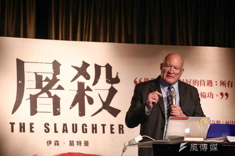 《屠殺》作者伊森.葛特曼來台國際記者會。(陳品佑攝)
