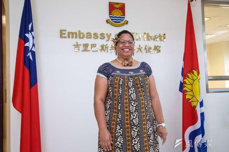 吉里巴斯大使藍黛西。(顏麟宇攝)
