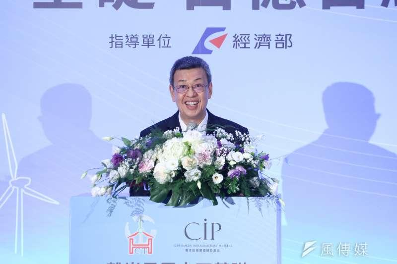 20181002-副總統陳建仁出席離岸風電水下基礎合約簽署記者會。(陳品佑攝)