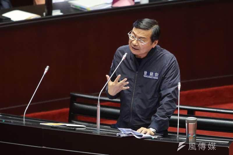 20181002-國民黨立委曾銘宗2日進行總質詢。(顏麟宇攝)