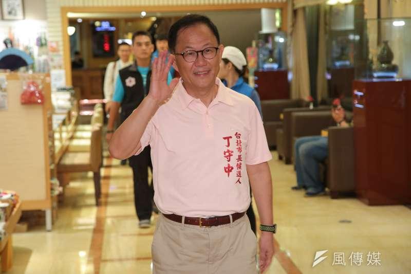 台北市長選舉國民黨最新民調,丁守中(見圖)支持度只落後柯文哲3個百分點。(顏麟宇攝)