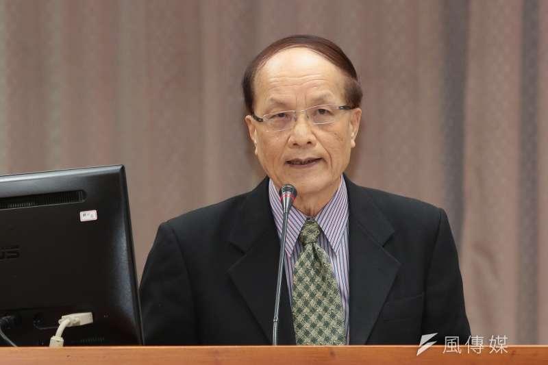 20181003-故宮院長陳其南3日出席教育文化委員會。(顏麟宇攝)