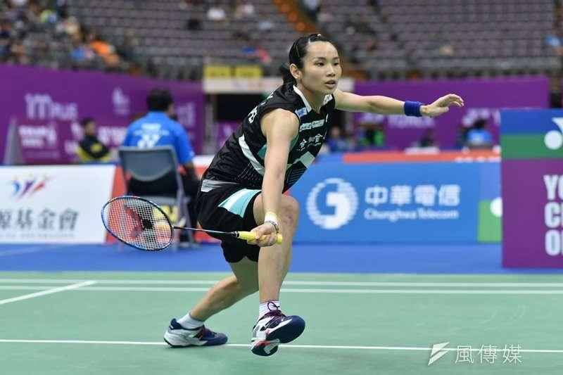 我國羽球女子單打好手「世界球后」戴資穎,在香港公開賽8強擊敗西班牙球后馬琳,挺進賽事4強之列。(資料照,王永志攝)