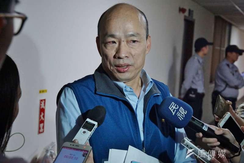 高雄市長候選人韓國瑜。(盧逸峰攝)