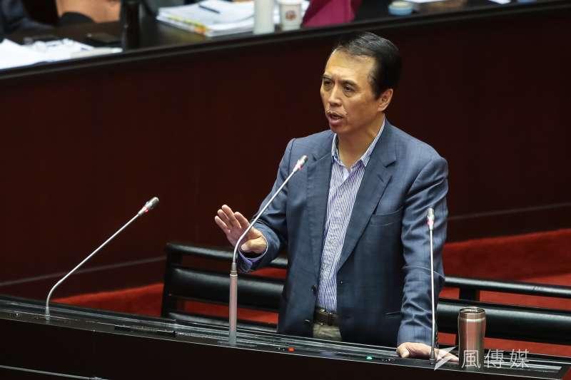國民黨立委陳學聖5日於立院質詢。(顏麟宇攝)