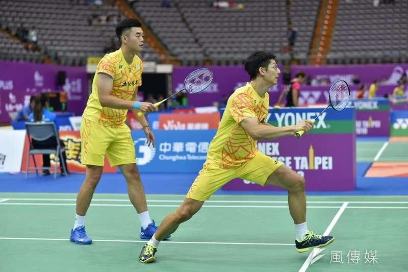 陳宏麟/王齊麟在台北羽球公開賽晉級決賽,下一場又將對上台灣組合廖敏竣/蘇敬恒。(王永志攝)