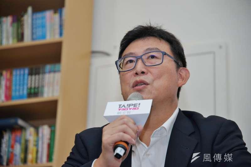 台北市長參選人姚文智辦公室再批台北市長柯文哲還債。(資料照片,盧逸峰攝)