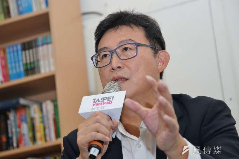 20181005-台北市長參選人姚文智召開 「體檢柯文哲市政記者會」。(盧逸峰攝)