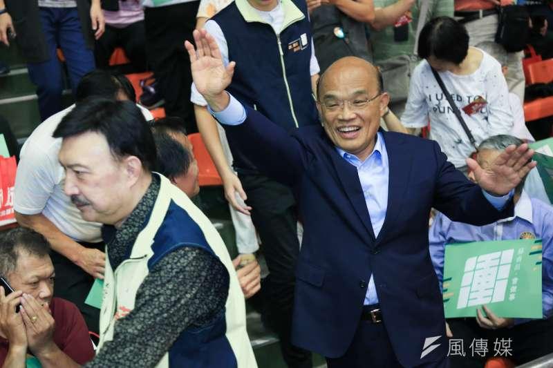 新北市長參選人蘇貞昌。(簡必丞攝)