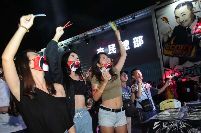 20181006-侯友宜市民總部6日舉辦「最硬電音趴」。(顏麟宇攝)