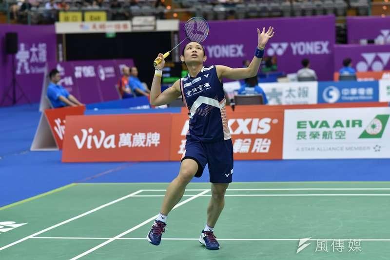 2018世界羽球年終賽,我國羽球女子單打好手「世界球后」戴資穎首輪面對美國華裔好手張蓓雯,以直落二過關,下一輪將面對印度一姊辛度。(資料照,王永志攝)