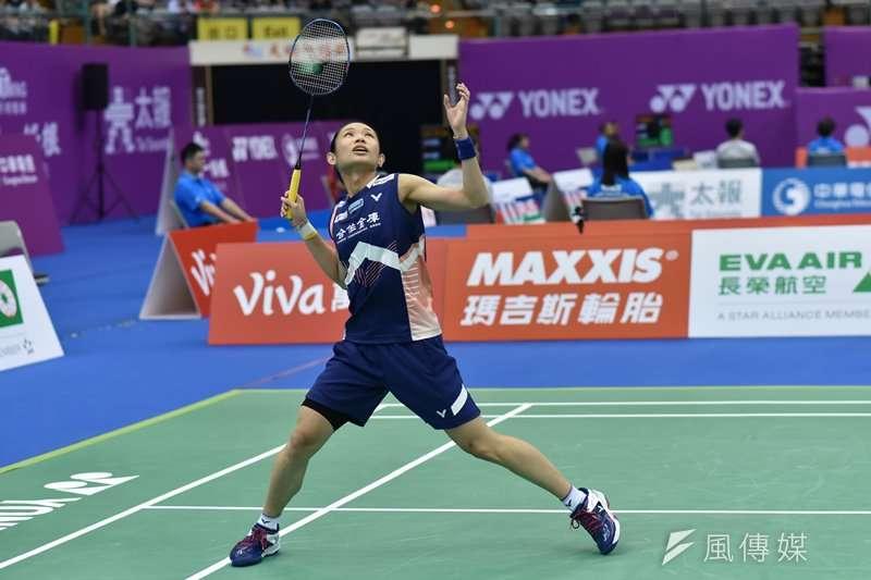 戴資穎在香港羽球公開賽16強再度上演逆轉秀,8強將與西班牙前球后瑪林正面交鋒。(資料照,王永志攝)