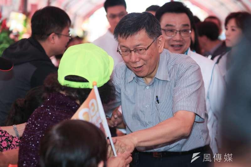 不受器捐事件影響!《旺旺中時》最新民調指出,台北市長柯文哲以41.6%支持度位居龍頭寶座。(資料照,簡必丞攝)