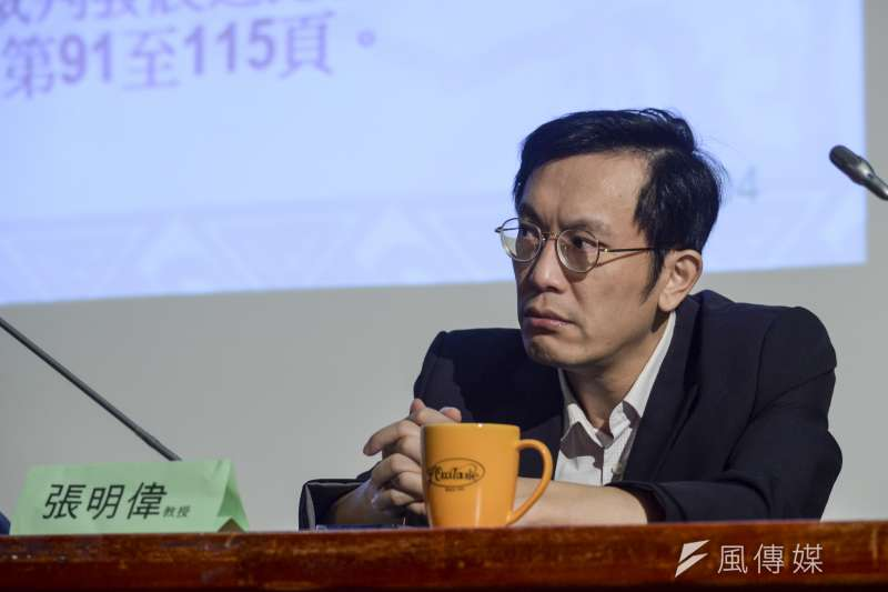 台灣人權法治關懷協會常務理事張明偉指出,此次《選罷法》修正內容,等同把古代包青天穿越到現代。(資料照,甘岱民攝)