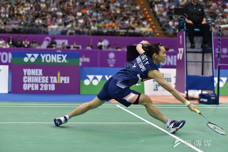 中央流行疫情中心今(2)日證實國際賽事「中華台北羽球公開賽」將在台開打。圖為2018年中華台北羽球公開賽,中華台北女子選手戴資穎。(資料照,王永志攝)