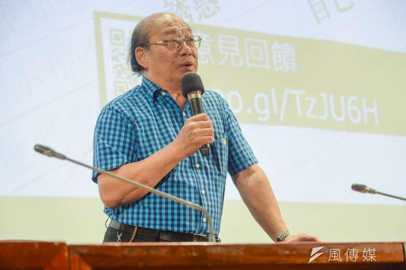 「此人沒有教化可能性?」2018台灣死刑判決研討會,台灣大學法律系教授李茂生。(甘岱民攝)