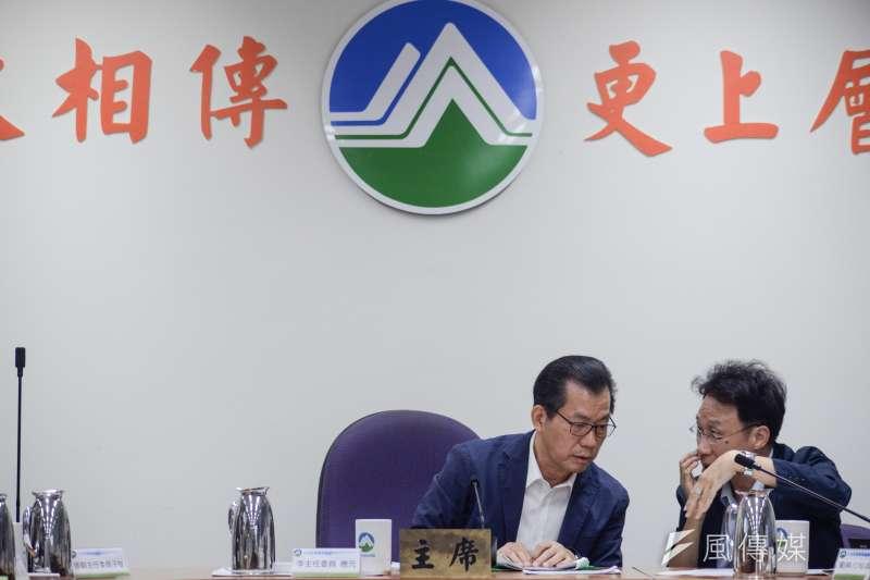 20181008-中油觀塘案環評大會,環保署長李應元出席會議。(甘岱民攝)