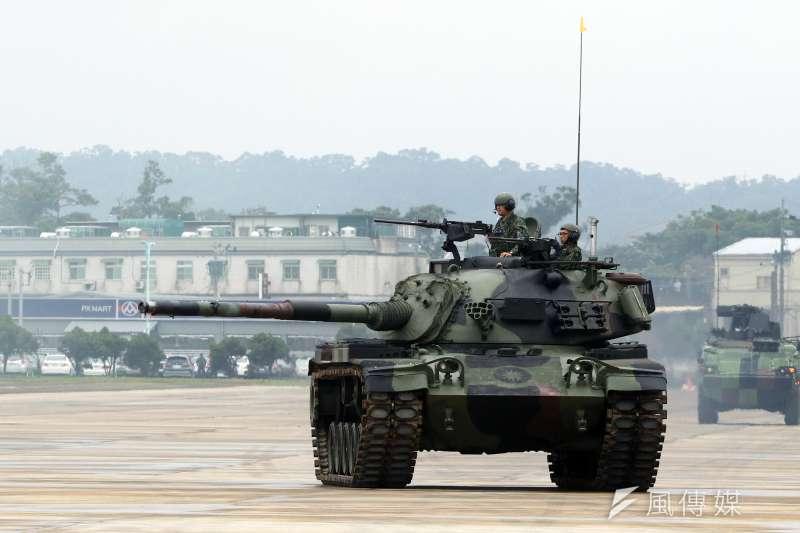 20181009-陸航601旅龍城營區,第三作戰區「地空聯合作戰」實兵演練,圖為CM-11戰車。(蘇仲泓攝)
