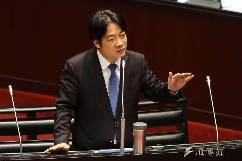 20181009-行政院長賴清德9日於立院備詢。(顏麟宇攝)