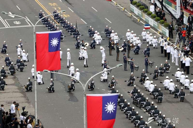 20181010-107年國慶,三軍儀隊表演。(蘇仲泓攝)