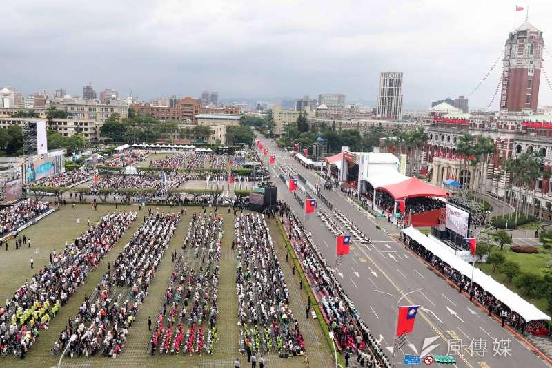 20181010-107年國慶,大會一景。(蘇仲泓攝)