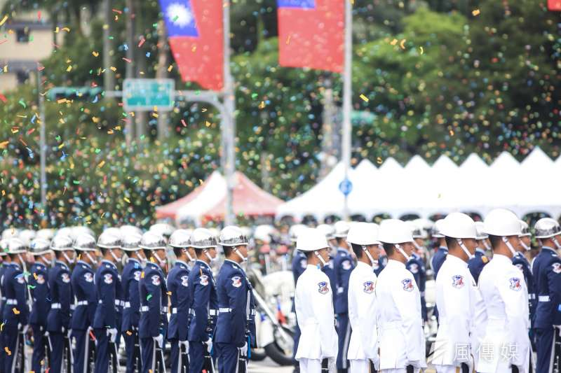 20181010- 2018年中華民國國慶大典10日於總統府前登場。國慶大會畫下完美句點。(簡必丞攝)