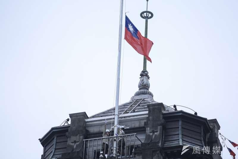 20181010- 2018年中華民國國慶大典,10日上午於總統府舉行國慶升旗。(簡必丞攝)