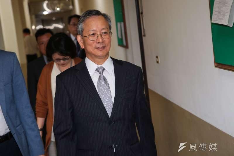 20181011-司法院秘書長呂太郎11日出席司法法制委員會備詢。(顏麟宇攝)
