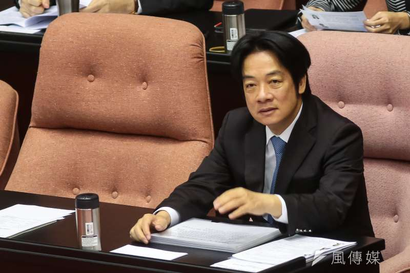 行政院長賴清德12日出席立院總質詢。(顏麟宇攝)