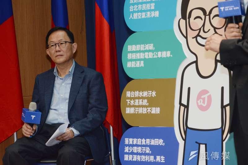 台北市長參選人丁守中今(12)日批評台北空氣品質問題,台北市環保局則回應,台北市空氣品質是六都最佳,全民努力不容抹煞。(甘岱民攝)