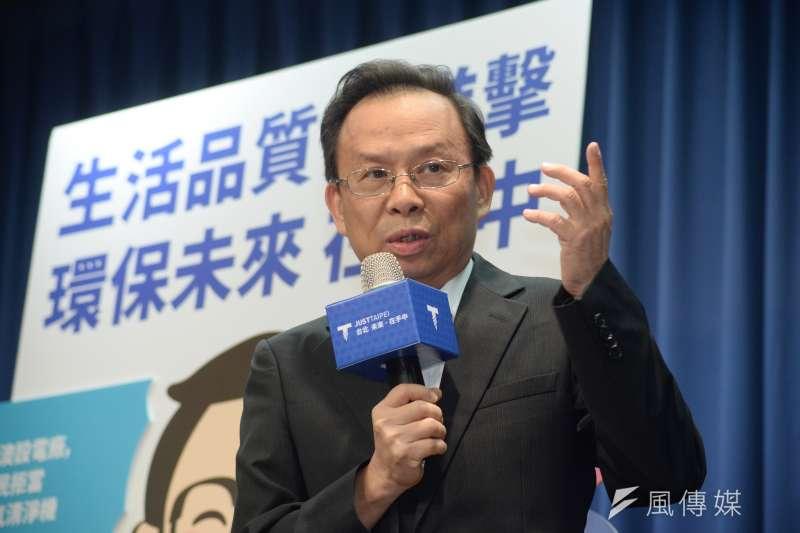 20181012-台北市長參選人丁守中環保政策記者會,前環保署長沈世宏。(甘岱民攝)