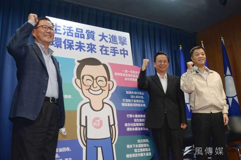 20181012-台北市長參選人丁守中環保政策記者會。(甘岱民攝)