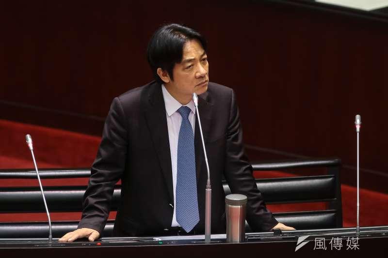 20181012-行政院長賴清德12日於立院備詢。(顏麟宇攝)