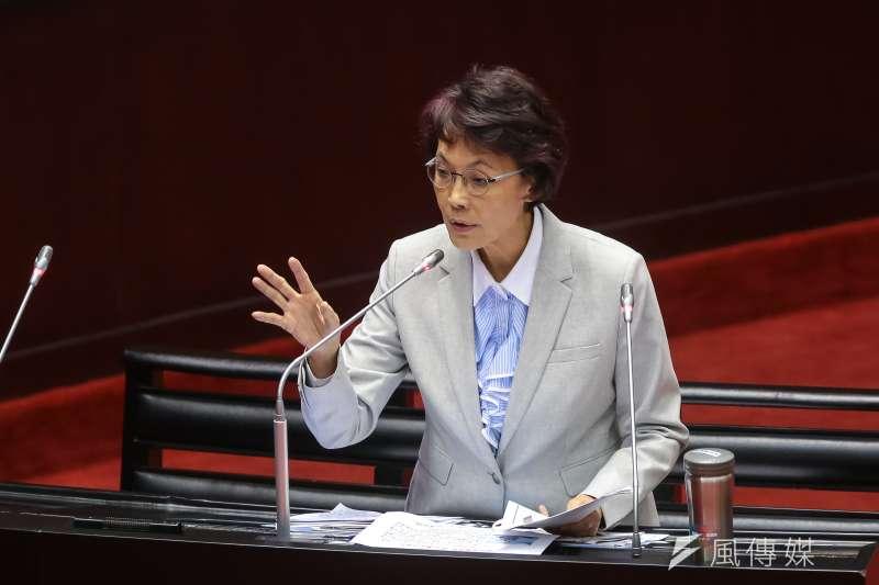 20181012-國民黨立委黃昭順12日於立院質詢。(顏麟宇攝)
