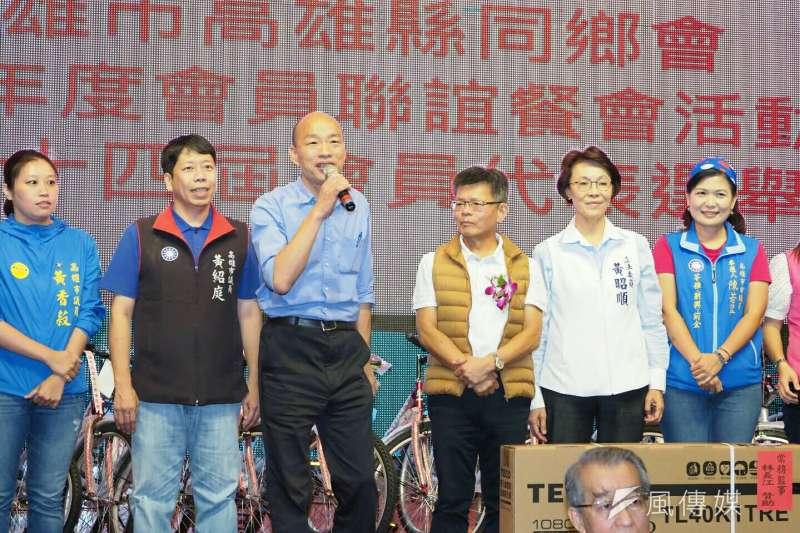 國民黨高雄市長參選人韓國瑜日前接受專訪時表示,擔任市長後將禁止政治性遊行,引發爭議。(資料照片,新新聞林瑞慶攝)