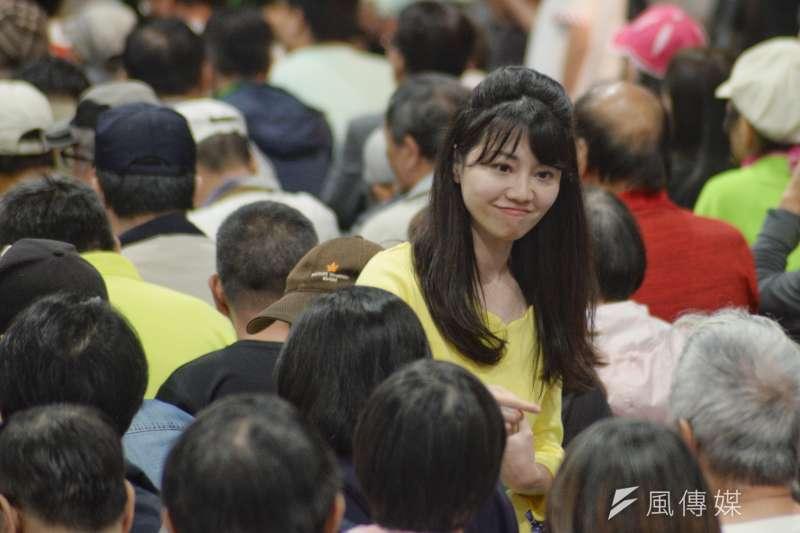 對於被當成戰犯,台北市議員高嘉瑜認為自己只是說該說的話,若大家認為最該檢討的是她,將虛心接受。(資料照,甘岱民攝)