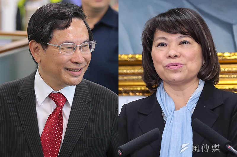 TVBS最新民調推估得票率,綠營涂醒哲 (左)險勝藍軍黃敏惠(右)1個百分點。(資料照,顏麟宇攝/照片合成:風傳媒)